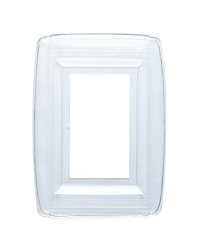 Single-Gang Plastic Wall Plate Shield Durable Plastic, Clear