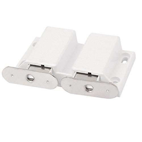 DealMux Mobiliário porta do armário Prima Abrir Duplo Magnetic Captura Trava Branco