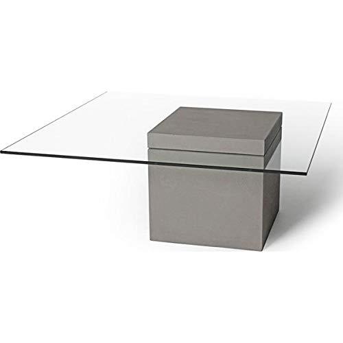 (Lyon Béton Verveine Square Coffee Table | Light)