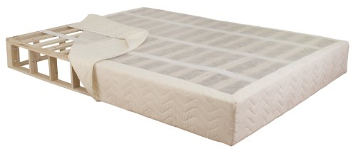 CoutureSleep 9 Inch KD Wooden Foundation - Full Visco Plush Mattress