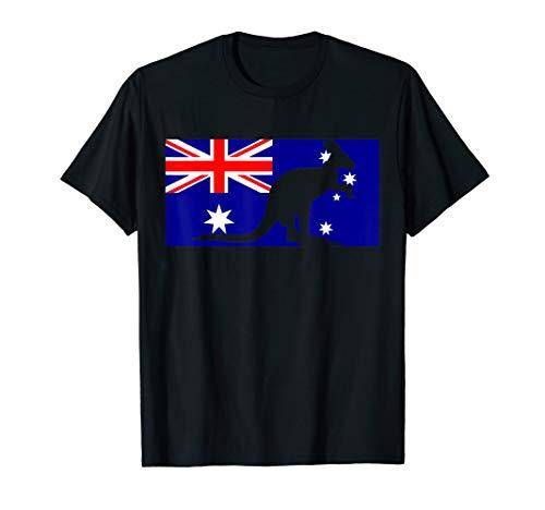Australian Flag T-Shirt Kangaroo Tshirt Australia Tee Gift
