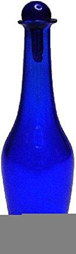 Miniature Tall Cobalt Blue Glass Decanter Wallpaper Cobalt Wallpaper