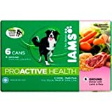 Iams ProActive Health Ground Dinner with Lamb and Rice Multi-Pack 6 Cans, 13.2 oz (each)(Pack Of 4)