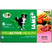 Iams ProActive Health Ground Dinner with Lamb and Rice Multi-Pack 6 Cans, 13.2 oz (each)(Pack Of 4) by Iams