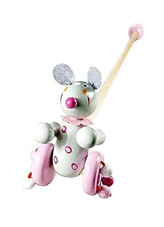 Mousehouse Gifts Madera juguete para arrastrar arrastre ratón para bebé niño niñas