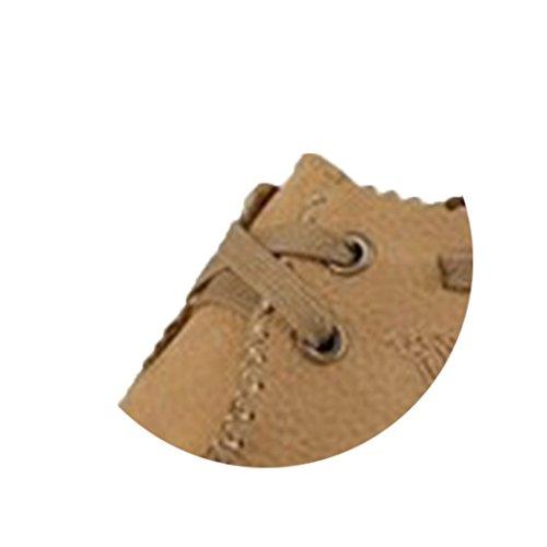 Spades & Clubs Herrenschuhe, modischer, lässiger Stil, flache Schuhe mit strukturierter Sohle, Leder Khaki