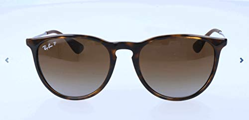 Ray-Ban RB4171 Erika Round Sunglasses, Light Tortoise/Polarized Brown Gradient, 54 mm ()