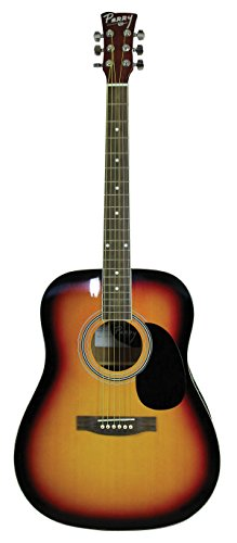 Vintage Dreadnought Acoustic Guitar - ChordBuddy PD1-VB Adult Dreadnought Acoustic Vintage Sunburst Guitar