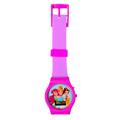 KidPlay Products Disney Princess Girls Digital LCD Wrist Watch Adjustable 8 Inch Strap - ()
