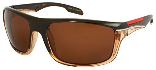 Edge I-Wear Sports Style Sunglasses with Polarized or Non-Polarized Lens 540672 (Brown, Brown - Active-i Sunglasses