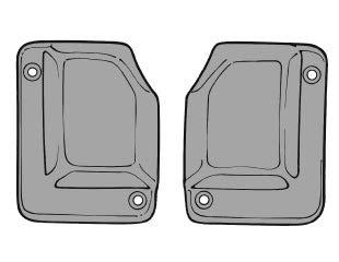 - Scott Drake C9ZZ-6328182/3A - 69-70 Fastback Quarter Window to Body Seals