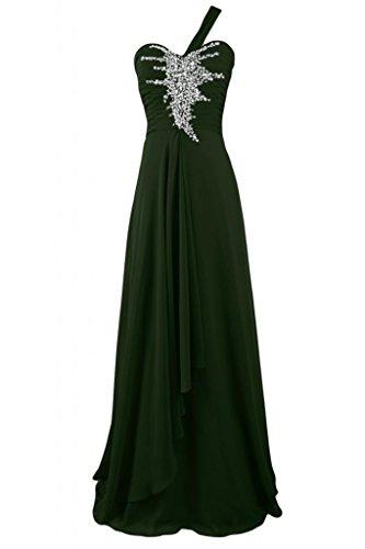 sera Sunvary damigella abito Verde uno da Sweetheart Strap da vestito Pageant lungo d'onore scuro Charming rrvqwF
