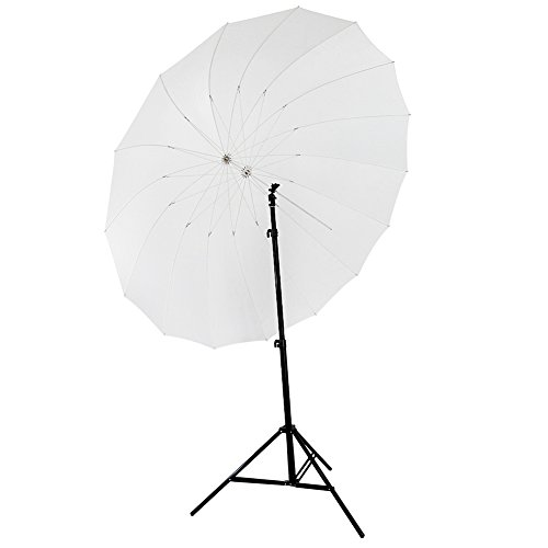 "Neewer 72""/185cm White Diffusion Parabolic Umbrella 16 Fiberglass Rib 7mm Shaft, includes Portable Carrying Bag"