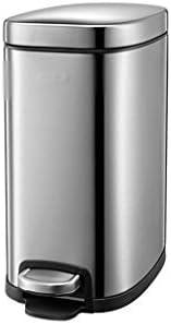 滑らかな表面 ペダルごみ箱、多機能ベッドルームラウンジオフィスキッチンゴミ箱のために狭い空間のための長方形スリムゴミ箱ことができ リサイクル可能なデザイン (Color : C, Size : 32.6*17*30CM)