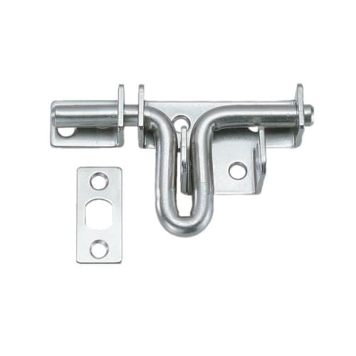 Sugatsune SSG-65 3-11/16 Inch Gate Latch with Padlock Holes, Stainless Steel