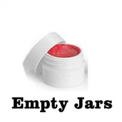 50 Pack Lip Balm Container - 0.25 Oz Jar White Plastic Jar W/lid