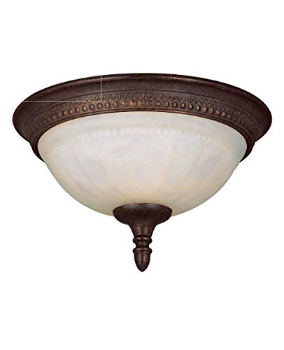 Savoy House KP-6-506-11-40 Flush Mount with Cream Marble Shades, Walnut Patina Finish