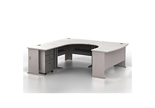 Bridge Light Gray Base (Series A U-Desk with Left Bridge - 84