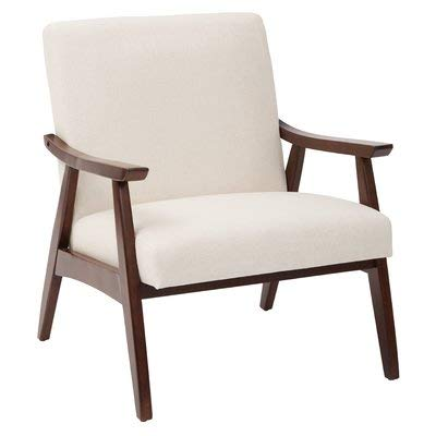 Amazoncom Fabric Accent Chair With Wood Arms Lounge Accent Chair