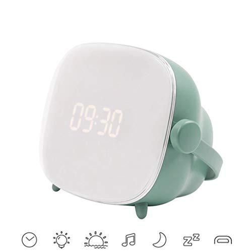 DQAC Alarm Clock- Retro TV Alarm Clock Light, Multi-Function LED Desk Lamp USB Charging Night Light Rotating Button Switch (Color : Green)