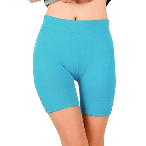 (Women's High Waist Yoga Shorts Lightweight Breathable Tight Workout Running Leggings Tummy Control Compression Plus Size Short)