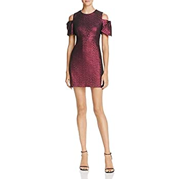 - 31OfB6tG5BL - MILLY Womens Metallic Cold Shoulder Party Dress