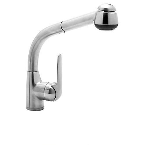 Rohl R7913APC De Lux Side Lever Pull-Out Kitchen Faucet, Polished Chrome
