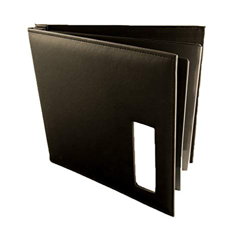 (Photo Booth Album 12 x 12 scrapbook top loading post bound album 50 pages (Black pages))