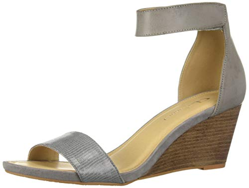 CL by Chinese Laundry Women's HOT Zone Wedge Sandal, Grey Lizard, 7 M ()