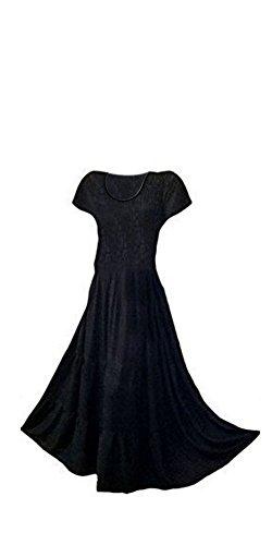 3 Schwarz Maxikleid Lagig Urban Cool Kaftans Lang Ethisch Design Damenkleid Funky R87g4W