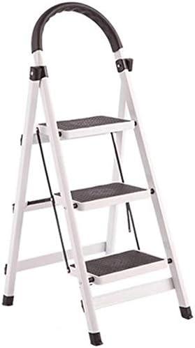 NYDZDM Taburete, 3 Pasos - aleación de Aluminio Escalera Plegable, Taburete Portable, Conveniente for el hogar Oficina Jardín (Color : White): Amazon.es: Hogar