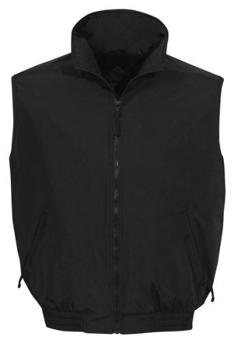 Tri-Mountain Ridge Rider Nylon Vest, XL, Black / Black