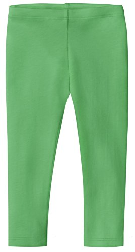 (City Threads Big Girls' Cotton Cropped Capri Summer Legging For Play and School SPD For Sensitive Skin Sensory Friendly, Elf,)
