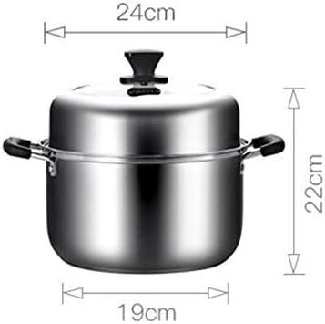 ステンレス鋼ストックスープ汽船多機能肥厚ハイアーチカバー食品クックポット家庭用調理器具誘導調理器ユニバーサルストックポット24センチ