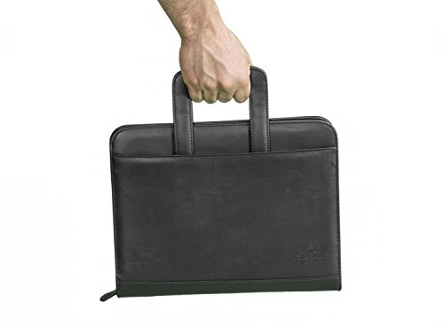 professional business padfolio portfolio briefcase style organizer folder with handles notepad