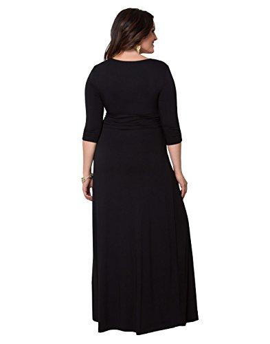 Kiyonna Women's Plus Size Desert Rain Maxi Dress 1x Black Noir