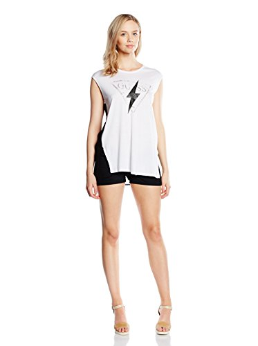 Guess Top  Blanco / Negro S