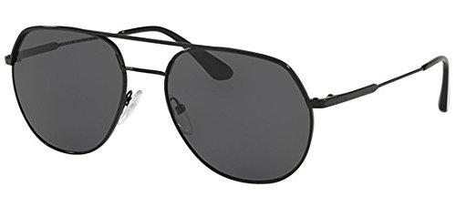 Prada PR55US 1AB5S0 Black PR55US Pilot Sunglasses Lens Category 3 Size 54mm ()