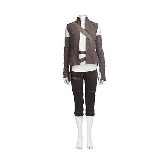 Rey Costume Deluxe Movie Halloween Cosplay Rey Full