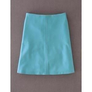 Boden Blue Cashmere Wool Lois A Line Skirt With Defect Uk 12l
