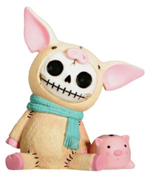 Furry Bones Piggy Collectible Figurine (Furry Pig)