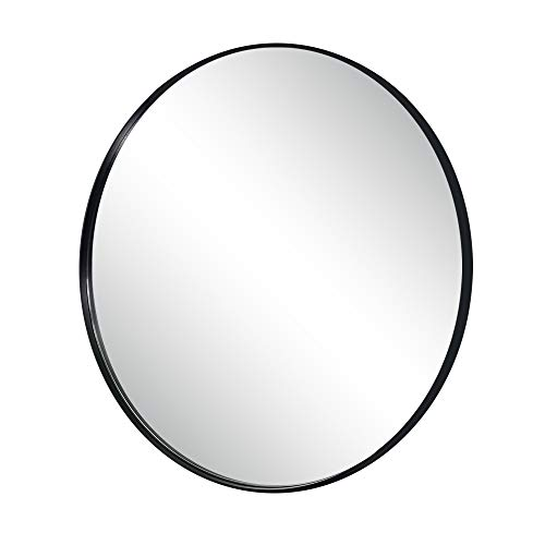 Monolith 26 Inch Wall Mirror with Coating Steel Frame Wall Mounted Round Big Mirror Rusty-Free for Home Decorative Living Room Washroom Entryway Hanging (Wall Round Mirrors Decorative)