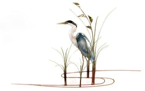 Bovano - Wall Sculpture - Single Heron w/ Seaoats - Left ()