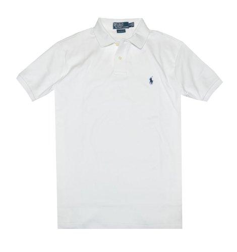 Polo Ralph Lauren Men The Interlock Shirt Custom Fit Pony Logo T-Shirt (S, White)