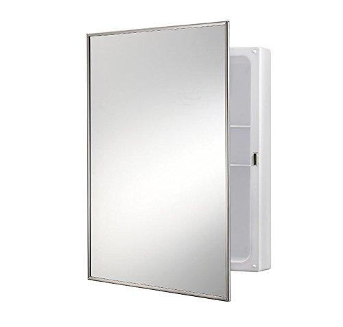 Jensen 614X Stainless Frame Medicine Cabinet, 16.25'' x 22.25'' by Jensen