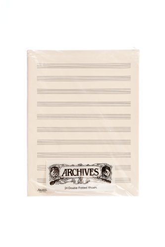 Archives Double-Folded Manuscript Paper Sheets, 10 stave, 24 Sheets - Sibelius General Music Pack