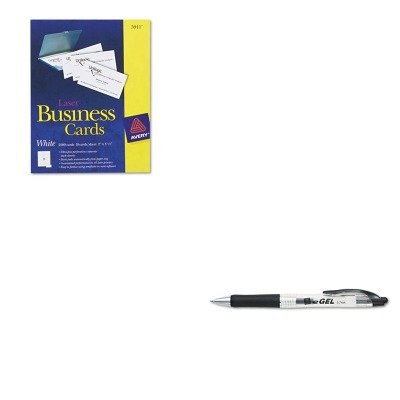 KITAVE49988AVE5911 - Value Kit - Avery Two-Side Printable Business Cards (AVE5911) and Avery eGEL Roller Ball Retractable Gel Pen (AVE49988) by Avery