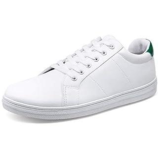 JOUSEN Men's Casual Shoes White Sneakers for Men Memory Foam White Shoes Soft Fashion Sneaker (10.5,Green)