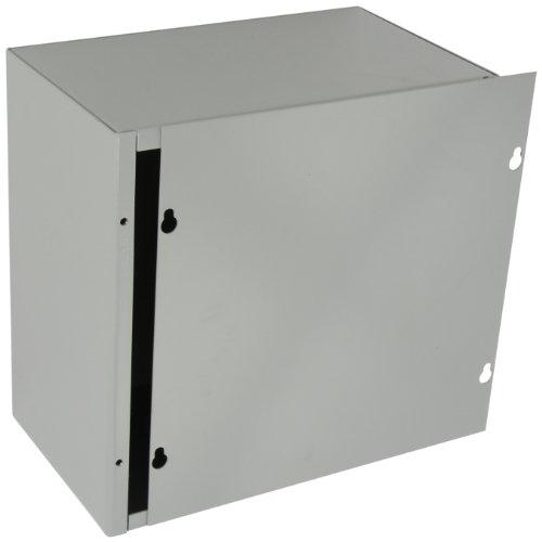 BUD Industries JB-3961 Steel NEMA 1 Sheet Metal Junction Box with Lift-Off Screw Cover, 10