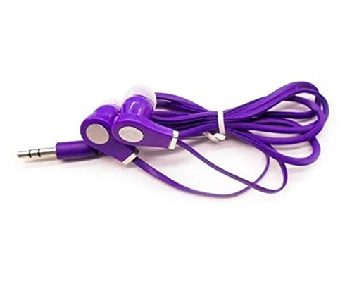 Earphone in-Ear Earphone Colorful Headset HiFi Earbuds Bass Ear Phones Purple